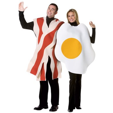 Bacon & Eggs Couples Adult Costume Standard Size