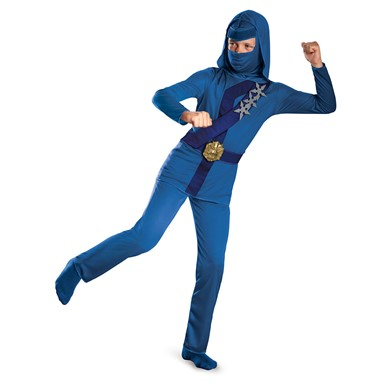Boys Blue Thunder Ninja Classic Halloween Costume