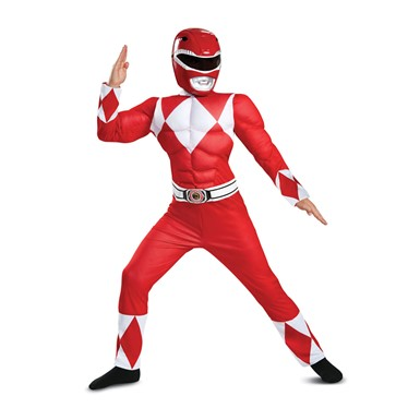 Boys Classic Red Ranger Muscle Power Ranger Costume