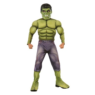 Boys Deluxe Muscle Chest Hulk Avengers Costume