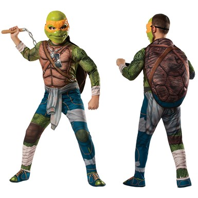 Boys Deluxe Ninja Turtles Michelangelo Costume