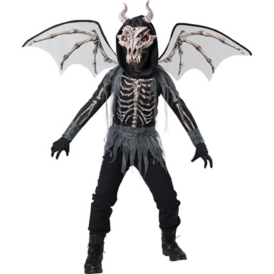 Boys Dragon Skeleton Halloween Costume