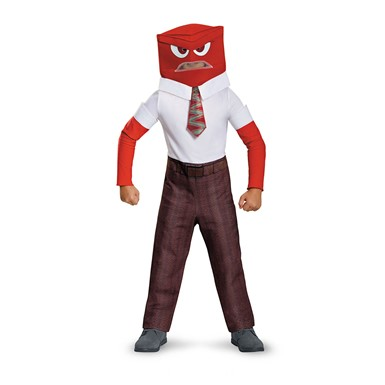 Boys Inside Out Classic Anger Halloween Costume