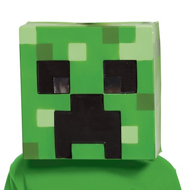 Boys Minecraft Creeper Vacuform Halloween Mask