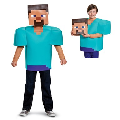 Boys Minecraft Steve Classic Halloween Costume