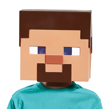 Boys Minecraft Steve Vacuform Halloween Mask