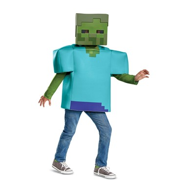 Boys Minecraft Zombie Classic Halloween Costume