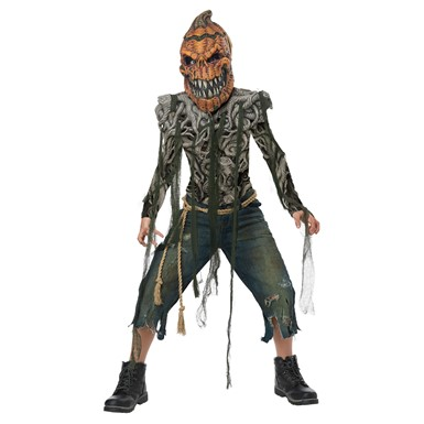 Boys Pumpkin Creature Monster Costume