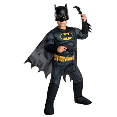 Boys The Batman Muscle Chest Animated Series Costume