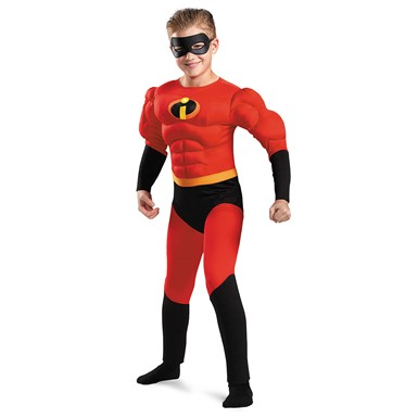 Boys The Incredibles Dash Muscle Superhero Costume