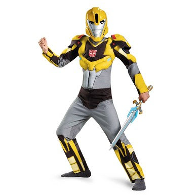Boys Transformers Animated Bumblebee Muscle Costume