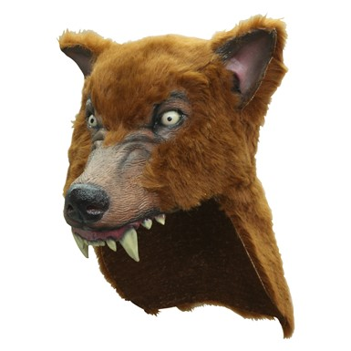 Brown Wolf Halloween Helmet