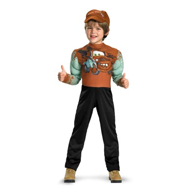 Cars 2 Classic Tow Mater Childs Muscle Costume