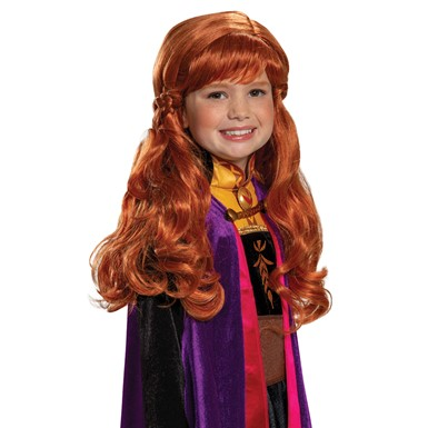 Child Frozen Anna Costume Wig