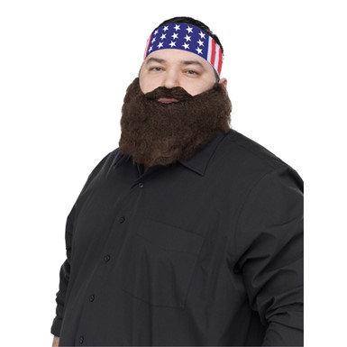 Crazy Quackers Brown Beard And Bandana TV Costume Beard