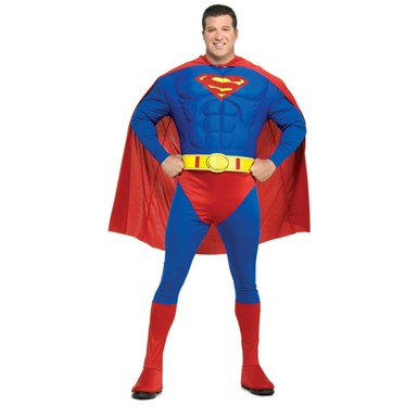 Deluxe Superman Muscle Mens Big & Tall Costume 46-52