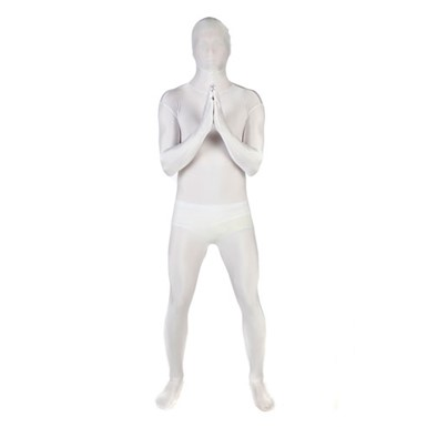Deluxe White Skintight Bodysuit Morphsuits Costume