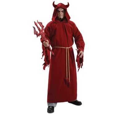 Devil Lord Red Hooded Adult Standard Costume