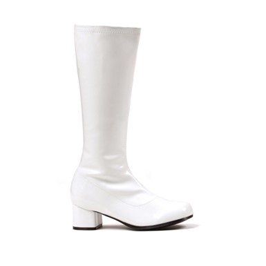 "Dora Girls White 1.75"" Go Go Boots"