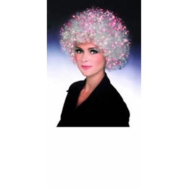 Fiber Optic Afro Wig - White - Adult Halloween Costumes d1042eda1