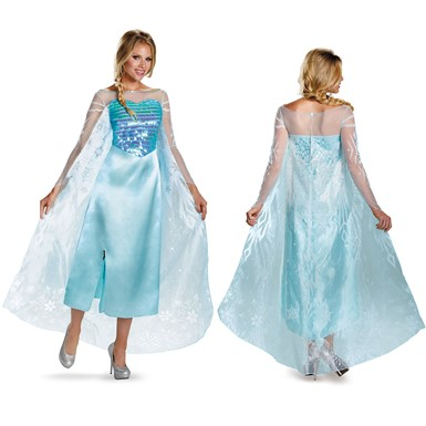 Frozen Disney Womens Elsa Deluxe Halloween Costume
