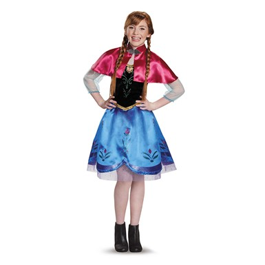 Frozen Tween Traveling Anna Halloween Costume
