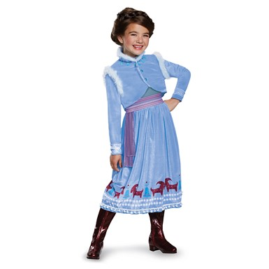 Girls Anna Frozen Adventure Deluxe Halloween Costume