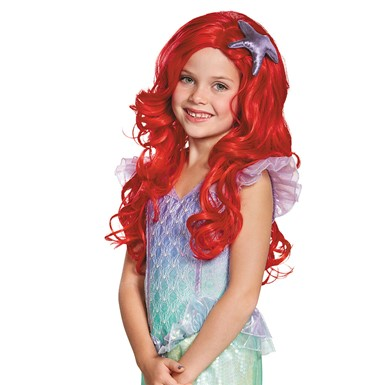 Girls Ariel Ultra Prestige Halloween Wig