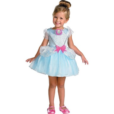 Girls Cinderella Ballerina Fairytale Halloween Costume