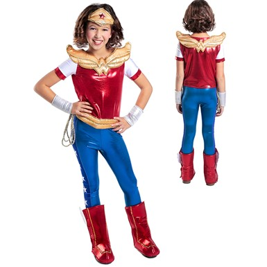 Girls DC Premium Wonder Woman Halloween Costume