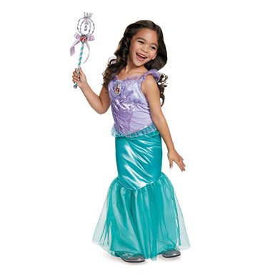 Girls Deluxe Ariel Disney Princess Costume