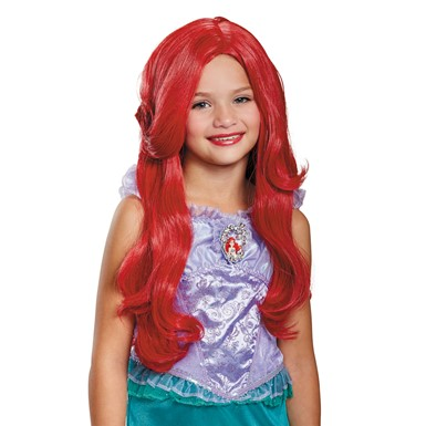 Girls Deluxe Little Mermaid Ariel Disney Wig
