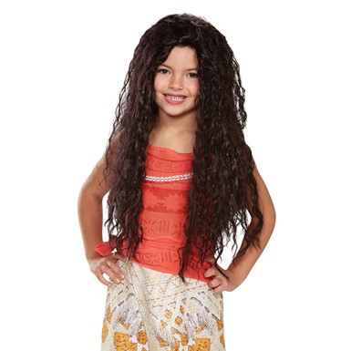 Girls Deluxe Moana Disney Costume Wig