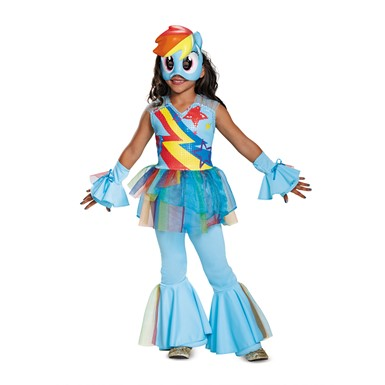Girls Deluxe Rainbow Dash Movie My Little Pony Costume