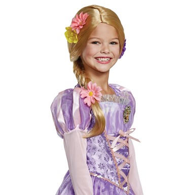 Girls Deluxe Rapunzel Tangled Blonde Braid Wig
