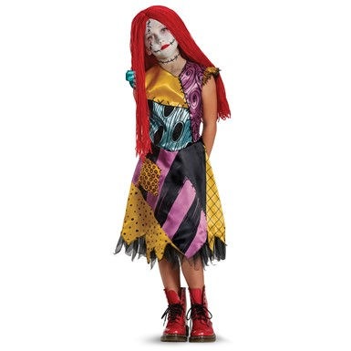 Girls Deluxe Sally Nightmare Before Xmas Costume