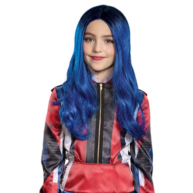 Girls Disney Descendants Evie Blue Wig