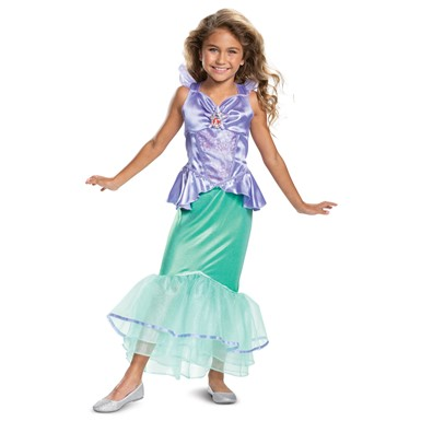 Girls Disney Princess Classic Ariel Mermaid Costume