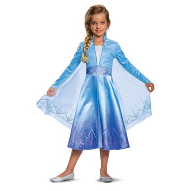 Girls Elsa Deluxe Halloween Costume