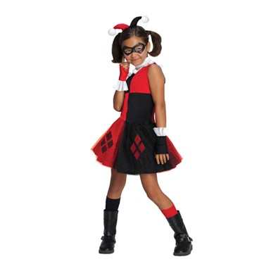 Girls Harley Quinn Tutu Halloween Costume