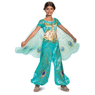 Girls Jasmine Teal Deluxe Disney Princess Costume