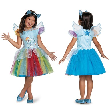 Girls My Little Pony Deluxe Rainbow Dash Tutu Costume
