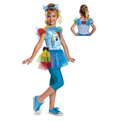 Girls My Little Pony Rainbow Dash Halloween Costume