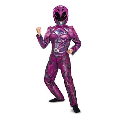 Girls Pink Power Rangers Movie Deluxe Costume