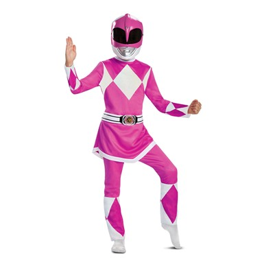 Girls Pink Ranger Deluxe Power Rangers Costume