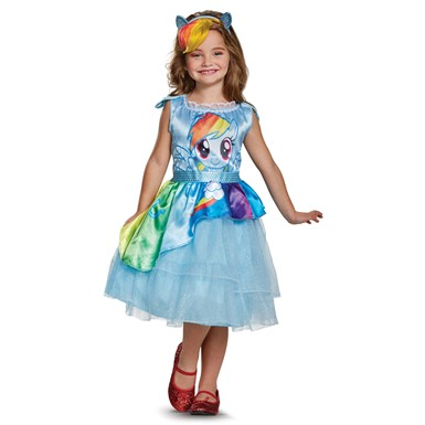 Girls Rainbow Dash Movie My Little Pony Costume