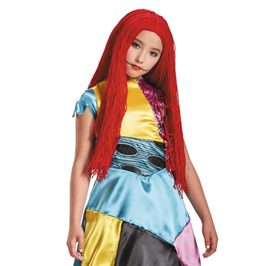 Girls Sally Nightmare Before Christmas Yarn Wig
