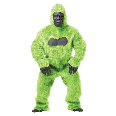 Green Gorilla Suit Ape Adult Halloween Costume