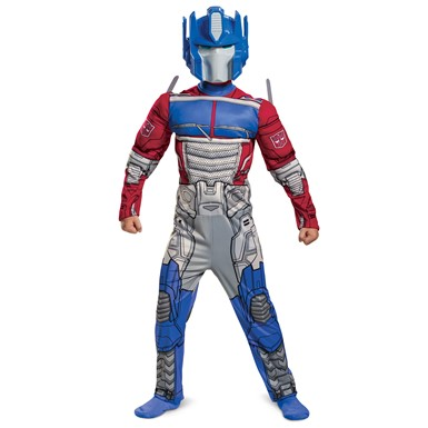 Kids Optimus Prime EG Muscle Transformers Cyberverse Costume