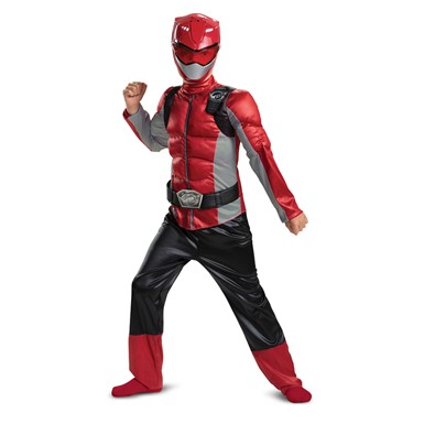 Kids Red Ranger Beast Morpher Muscle Costume